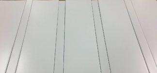 Комплект реечного потолка 100 P + 25 P, матовый белый 140