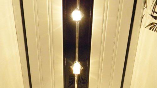 Реечный потолок черно-белый. USA Ceiling Group.